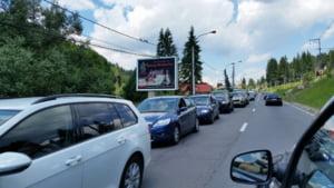 Fotografia zilei: Trafic de cosmar pe Valea Prahovei