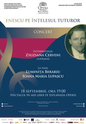 """""""Enescu pe intelesul tuturor"""", pe esplanada Operei Nationale Bucuresti"""