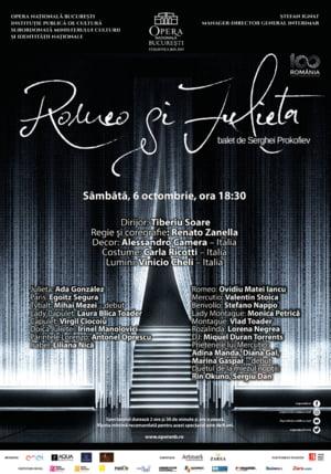 """""""Romeo si Julieta"""", spectacol de balet, pe scena Operei Nationale Bucuresti"""