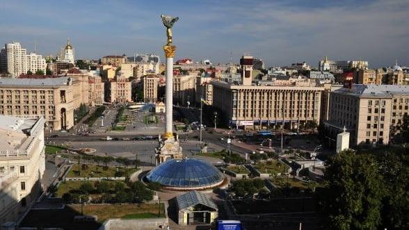 FOTO Cum arata Piata Independentei din Kiev dupa trei luni de proteste