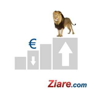 Curs euro-leu: Euro a scazut la cel mai mic nivel din ultimele sase luni