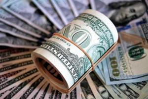 Curs valutar: Euro a scazut, insa dolarul e cel mai mare din ultimii doi ani