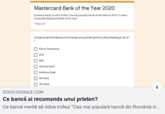 Tu ce banca ai recomanda unui prieten? Voteaza AICI!