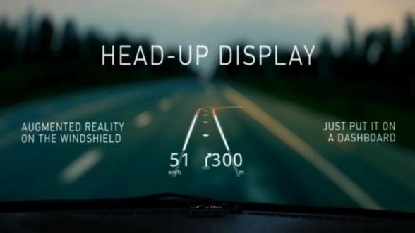 VIDEO. Aplicatia care transforma parbrizul masinii in GPS