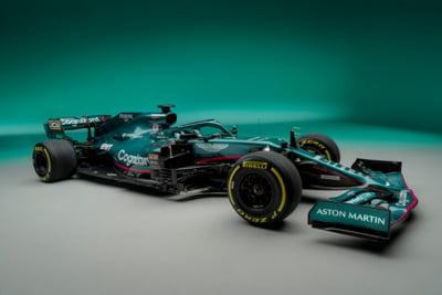 FOTO Aston Martin si-a prezentat primul bolid de Formula 1 dupa 60 de ani. Cum va arata masina