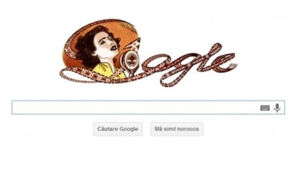 100 de ani de la nasterea Mariei Tanase. Google o sarbatoreste cu un logo special