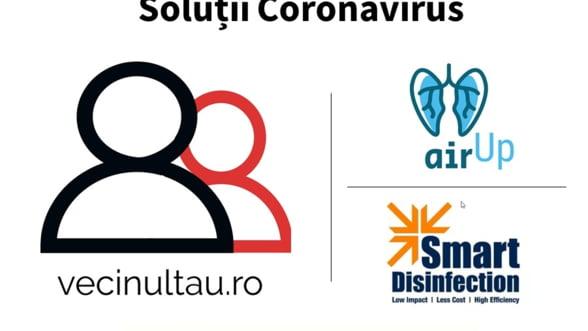 3 solutii romanesti la provocarile Covid-19 primesc suport financiar si mentorat in Future Makers: VecinulTau.ro, Air Up ventilator si Smart Disinfection System