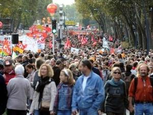 380.000 de francezi au manifestat impotriva reformei pensiilor
