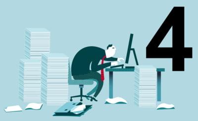 4 motive pentru care lucrul cu documentele pe hartie va afecteaza eficienta companiei