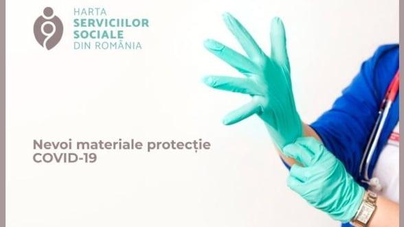 A fost lansata harta serviciilor sociale pentru nevoile de materiale de protectie COVID-19