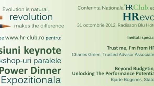 A opta editie a Conferintei Nationale HR Club: HRevolution