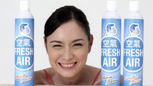 Aer curat imbuteliat, de vanzare in China