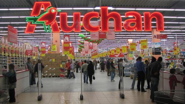 Afacerile brute ale Auchan in Romania au depasit pragul de 500 de milioane de euro anul trecut