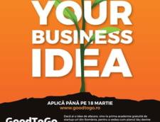 Ai o idee de afaceri pe care vrei sa o dezvolti? Aplica acum la Good To Go!