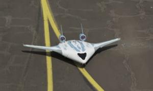 Airbus a prezentat un model de avion curbat in care corpul si aripile sunt integrate intr-un singur modul (Video)