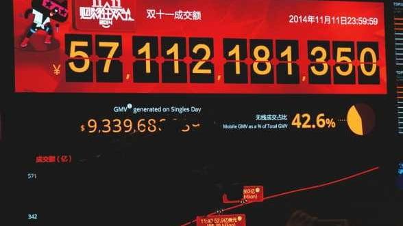 Alibaba a facut vanzari online de 9 miliarde de dolari intr-o singura zi