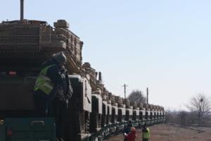Americanii suplimenteaza numarul tancurilor aflate in baza Mihail Kogalniceanu