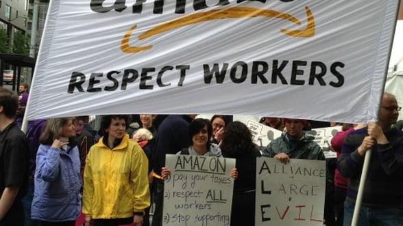 Angajatii Amazon.com solicita cresterea salariilor