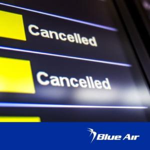 """Anunt de ultima ora al Blue Air: """"Suntem nevoiti sa amanam un numar semnificativ de zboruri intre Romania si Italia si intre Romania si Cipru"""""""