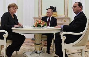 Anuntul Kremlinului, dupa intalnirea Putin-Merkel-Hollande