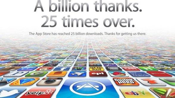 Apple: 25 de miliarde de descarcari din AppStore