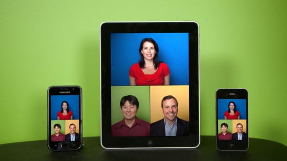 Apple 4S sustine videoconferinte cu pana la 100 de persoane