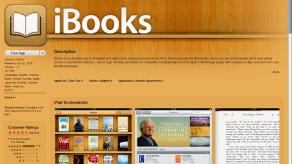 Apple iBook: peste 350.000 de descarcari in cinci zile