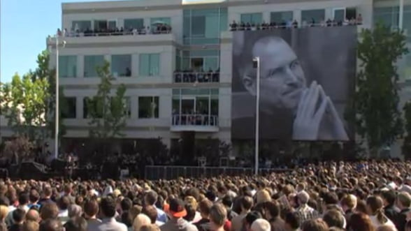 Apple prezinta ceremonia in cinstea lui Steve Jobs - VIDEO