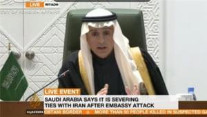 Arabia Saudita a intrerupt relatiile diplomatice cu Iranul: Aveti 48 de ore sa plecati!