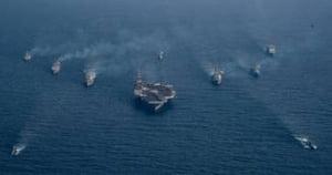 Armada lui Trump ajunge, in cele din urma, la destinatie. Coreea de Nord, avertizata sa nu faca vreo greseala