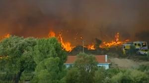 Atentie daca mergeti in Portugalia: Temperaturile sunt extreme si e risc maxim de incendii de vegetatie