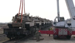 Au venit americanii: 500 de militari si mai multe tancuri au ajuns la Kogalniceanu