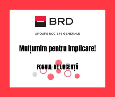 BRD doneaza 36.000 de euro pentru dotarea spitalului din Fagaras cu echipamente necesare luptei cu virusul