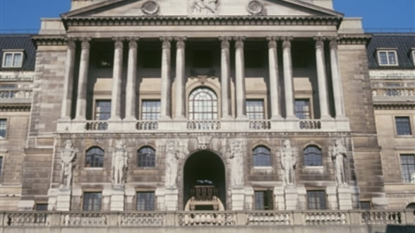 Banca Angliei: Estimari in scadere privind evolutia economiei