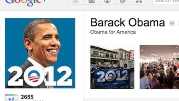 Barack Obama isi face campanie pe Google+