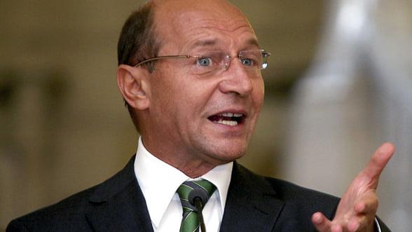 Basescu: Romania, in dificultate daca nu se mentine fluxul de capital