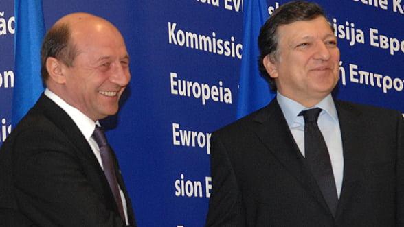 Basescu se intalneste cu Barroso pentru a discuta despre viitorul Republicii Moldova