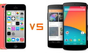Batalia celor mai tari smartphone-uri: iPhone 5C si Nexus 5