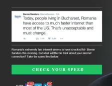 Bernie Sanders, ia de-aici Internet rapid: Site-ul creat de romani prin care poti sa verifici viteza de Net (Foto)