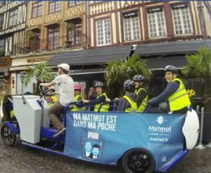 Bicicletele scolare multi-user, noul mijloc ecologic de transport al elevilor in Franta (Video)