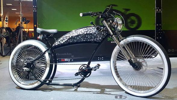 Bizze Bikes a prezentat, in premiera, la Salonul Bicicletei din Bucuresti, prima bicicleta electrica romaneasca de tip chopper