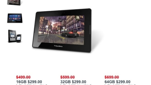 BlackBerry PlayBook, la reducere: 299 de dolari, toate modelele