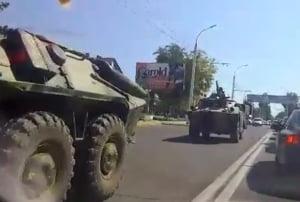 Blindate rusesti au simulat atacarea Republicii Moldova