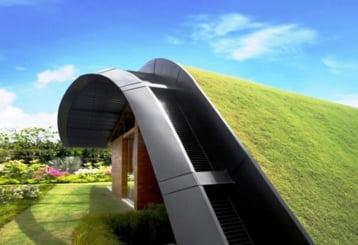 abordare eleganta pentru casa ta Acoperisul de iarba poate fi o