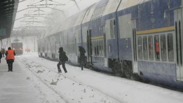 CFR Calatori a anulat 59 de trenuri din cauza conditiilor meteo nefavorabile