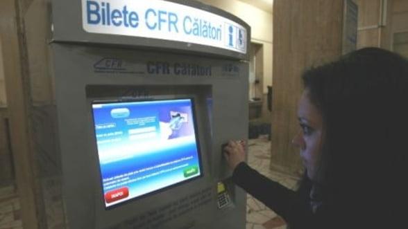 CFR Calatori investeste 200.000 de euro in tonomate de bilete. Vezi in care gari le gasesti