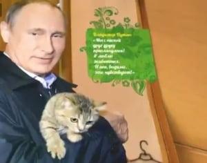Calendar cu Putin pe 2017: S-a pozat cu un copil, un pisoi si in copac (Video)