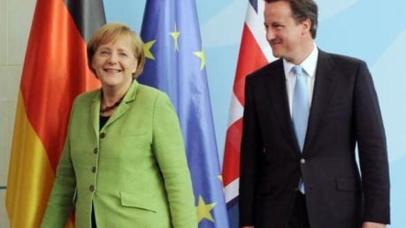 Cameron pune conditii pentru sustinerea planului Germaniei pentru zona euro