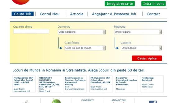 CarieraNoua.ro lanseaza in Romania noua generatie de aplicatii mobile pentru cautarea de joburi