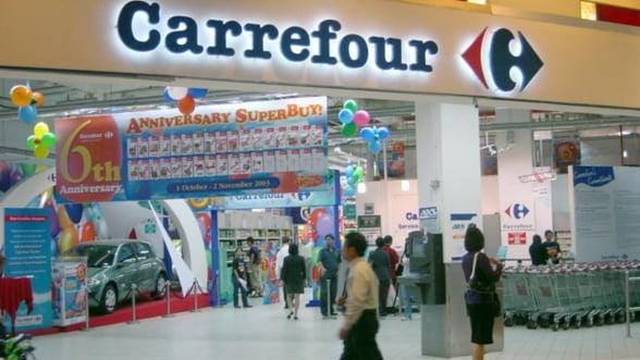 Carrefour are vanzari in crestere la nivel de grup, dar in scadere in Romania